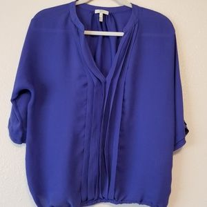 Joie Silk Pleated Front Blouse